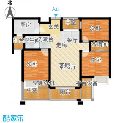 路劲翡丽湾G户型3室1厅1卫1厨