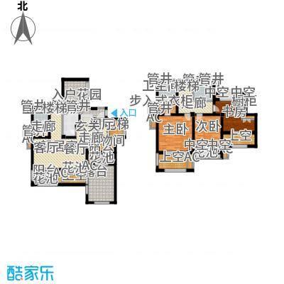 新城香溢澜庭156.00㎡C户型,四房两厅三卫户型4室2厅3卫