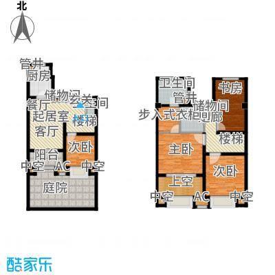 新城香溢澜庭152.00㎡B户型,四房两厅三卫户型4室2厅3卫