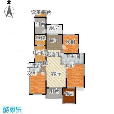 龙湖蔚澜香醍B1户型4室2卫1厨