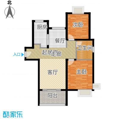 三湘森林海尚A3户型2室1卫1厨
