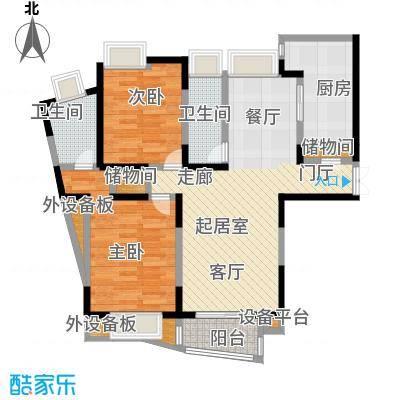 金沙雅苑(三期)82.00㎡房型: 二房; 面积段: 82 -109 平方米; 户型
