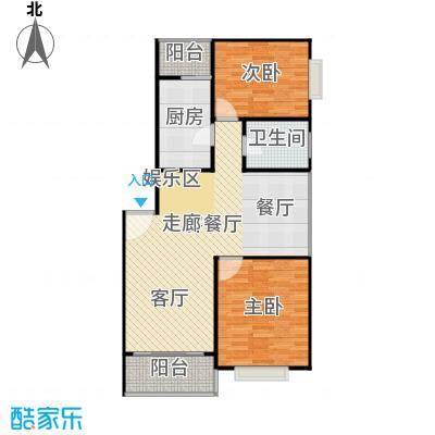 金沙嘉年华二期84.00㎡房型: 二房; 面积段: 84 -94 平方米; 户型