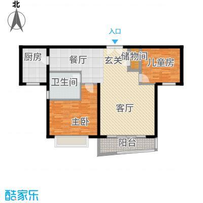 真情公寓(四期)101.70㎡房型: 二房; 面积段: 101.7 -105.8 平方米;户型
