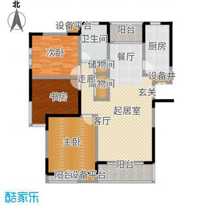 上海星港(一期)117.00㎡房型: 三房; 面积段: 117 -129 平方米;户型