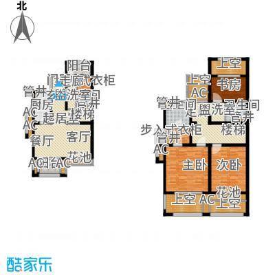 新城香溢澜庭155.00㎡A户型,四房两厅三卫户型4室2厅3卫
