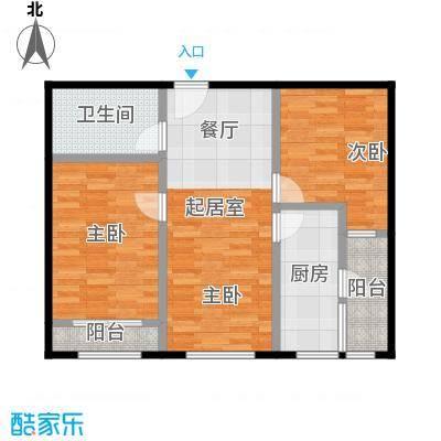 龙湖蔚澜香醍X1户型2室1卫1厨