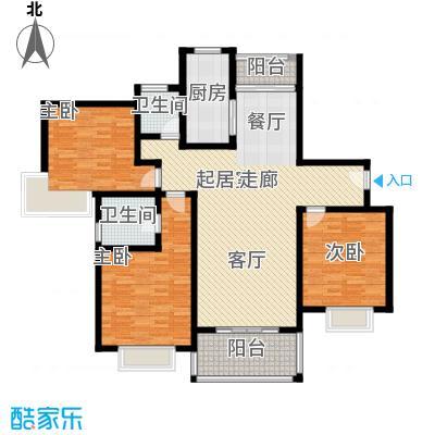 三湘森林海尚户型3室2卫1厨