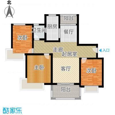 三湘森林海尚B1户型3室1卫1厨