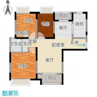 同济融景雅苑114.00㎡C3户型3室1卫1厨