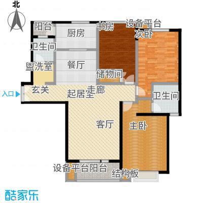当代曹杨(中关村公寓)137.00㎡房型: 三房; 面积段: 137 -143.6 平方米;户型