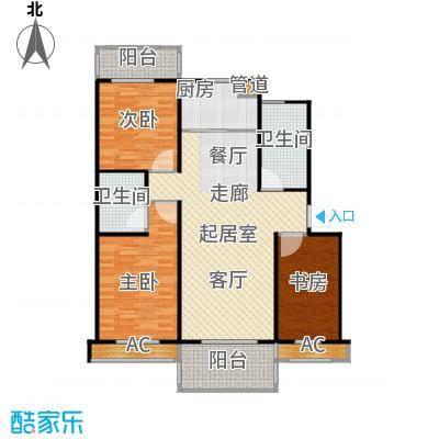 江桥二村115方三室两厅两卫户型