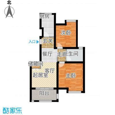 绿地�香公馆B1户型2室1卫1厨