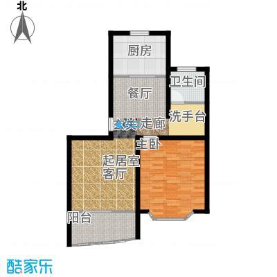 万景园(二期)房型户型1室1卫1厨