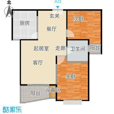 秋月枫舍(一期)99.71㎡房型: 二房; 面积段: 99.71 -101 平方米; 户型