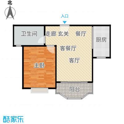 金沙雅苑(一期)房型户型1室1厅1卫1厨