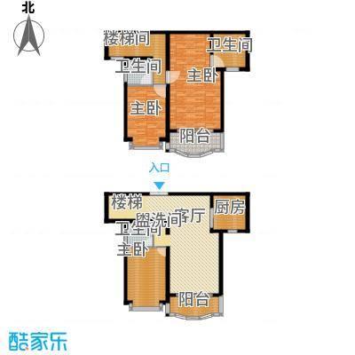东苑世纪名门花园房型复式户型3室1厅3卫1厨