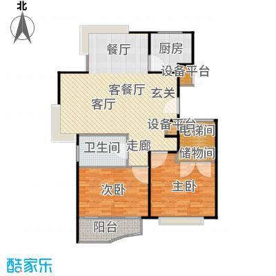 金铭福邸三期109.00㎡房型: 二房; 面积段: 109 -110 平方米; 户型