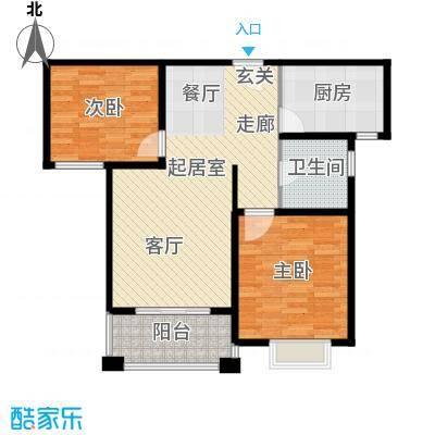 保利叶上海d2户型2室1卫1厨