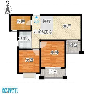 保利叶上海a2户型2室1卫1厨