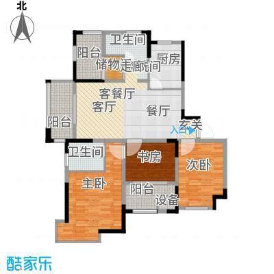 中冶祥腾宝月花园112.87㎡E户型3室1厅2卫1厨