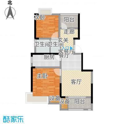 中冶祥腾宝月花园C户型2室1厅1卫1厨