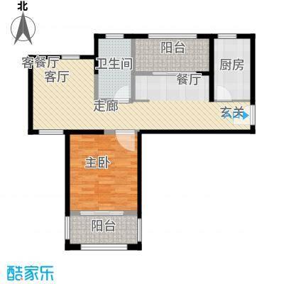 中冶祥腾宝月花园D1户型1室1厅1卫1厨