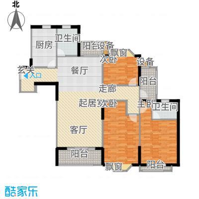 金芙世纪公寓134.51㎡_1户型