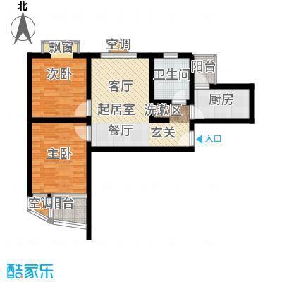 新梅淞南苑70.00㎡房型: 二房; 面积段: 70 -80 平方米;户型