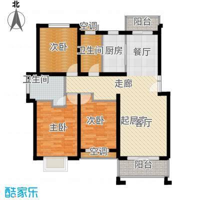 保集绿岛家园120.00㎡房型: 三房; 面积段: 120 -130 平方米;户型