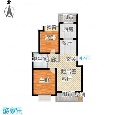 鎏园100.00㎡房型: 二房; 面积段: 100 -110 平方米;户型
