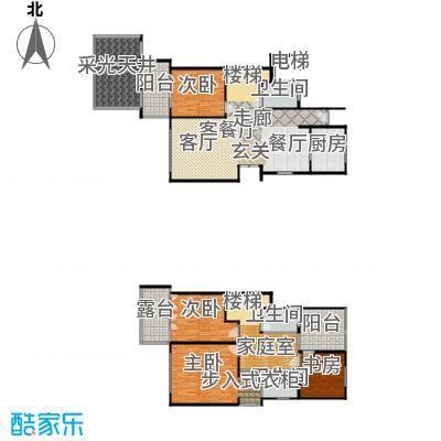 上海三湘海尚G下叠户型4室1厅3卫1厨