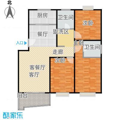 张杨南苑126.01㎡房型户型