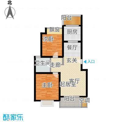 鎏园90.00㎡房型: 二房; 面积段: 90 -100 平方米;户型