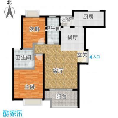 盛世宝邸A3户型2室2卫1厨