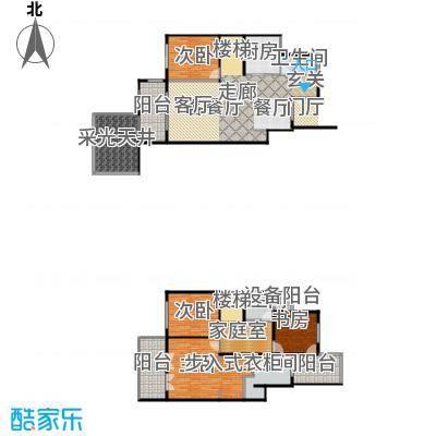 上海三湘海尚F下叠户型4室1厅3卫1厨