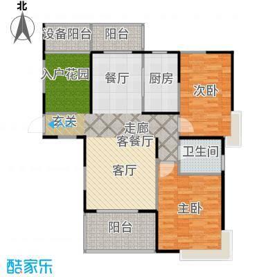 上海三湘海尚C3户型2室1厅1卫1厨