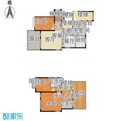 上海三湘海尚G上叠户型3室1厅3卫1厨