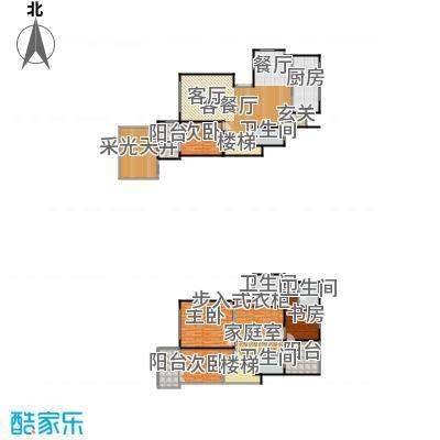 上海三湘海尚H下叠户型4室1厅4卫1厨