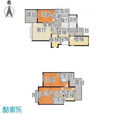 上海三湘海尚F上叠户型3室1厅3卫1厨