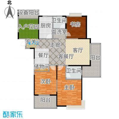 上海三湘海尚B4户型3室1厅2卫1厨