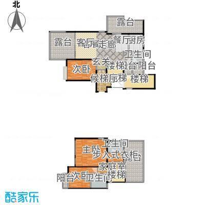 上海三湘海尚H上叠户型3室1厅3卫1厨