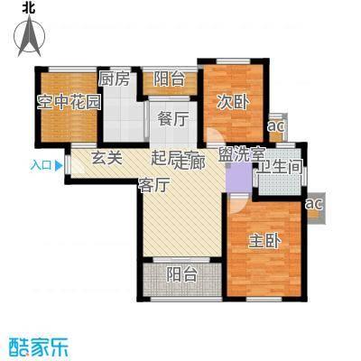 东方帕堤欧2室2厅1卫1厨83.65㎡户型