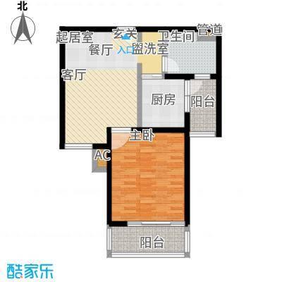 旭辉依云湾72.00㎡一室一厅一卫户型