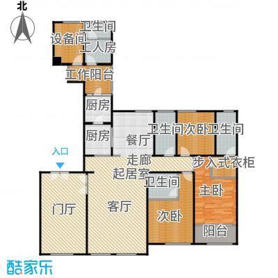 华润外滩九里3房2厅2卫2 188平方米户型