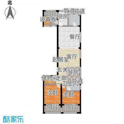 中福城三期112.00㎡房型: 二房; 面积段: 112 -141 平方米; 户型