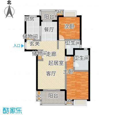 仁宝公寓户型2室2卫1厨