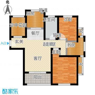 东方帕堤欧3室2厅1卫1厨84.34㎡户型