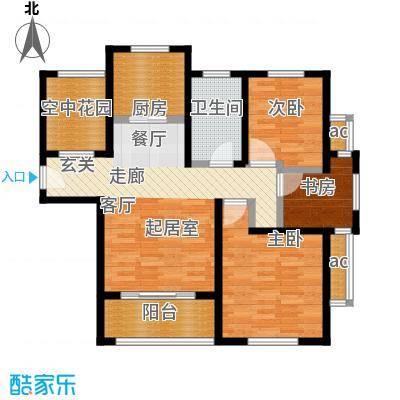 东方帕堤欧89.00㎡三房二厅一卫户型