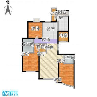枫桥湾名邸169平米三房两厅两卫双南户型